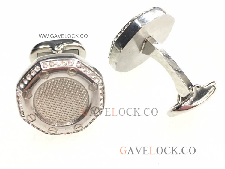 Buy Replica Audemars Piguet Cufflinks Steel With Diamond
